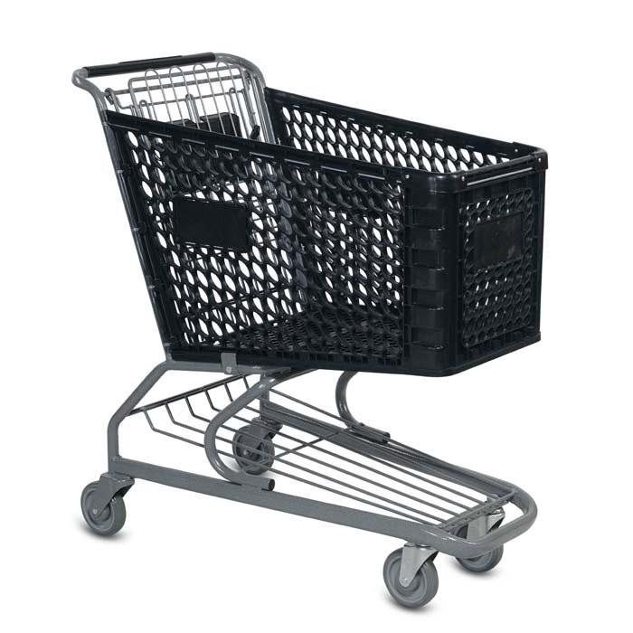 V Series 145 Liter Plastic Shopping Cart