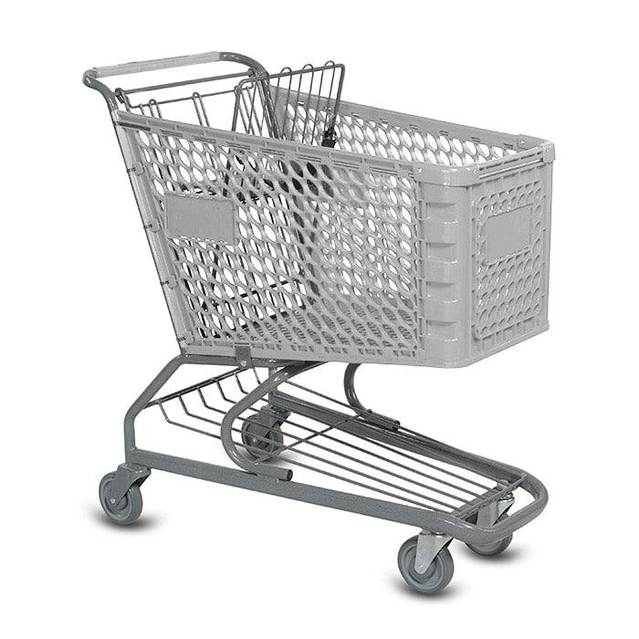 V Series 145 Liter Plastic Grocery Shopping Cart
