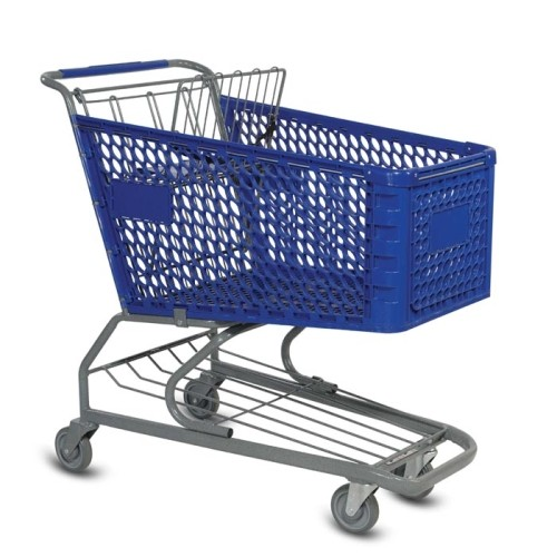 V Series 172 Liter Plastic Shopping Cart