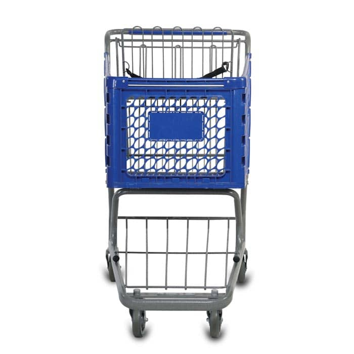 V Series 172 Liter Plastic Shopping Cart