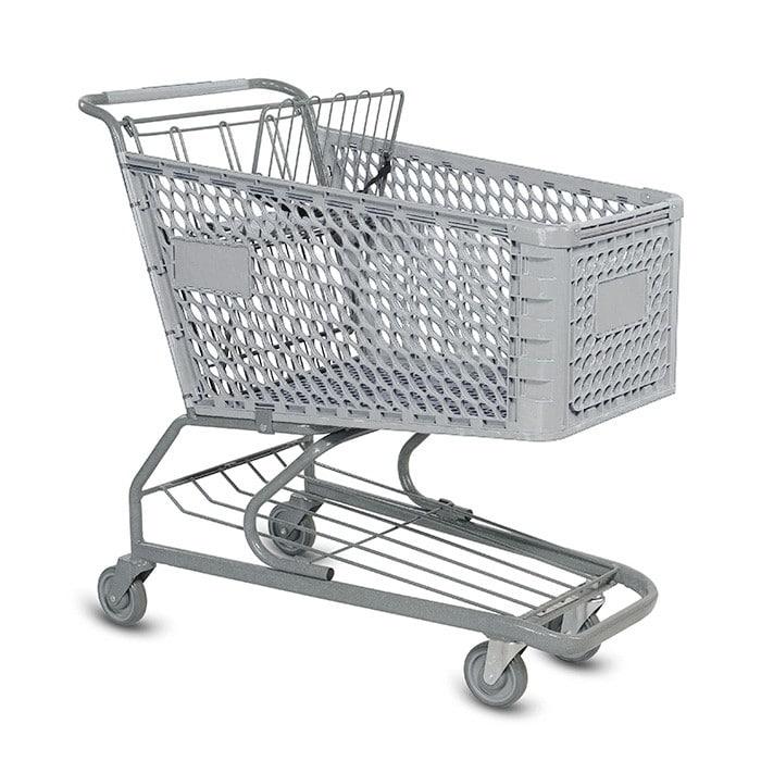 V Series 172 Liter Plastic Grocery Shopping Cart
