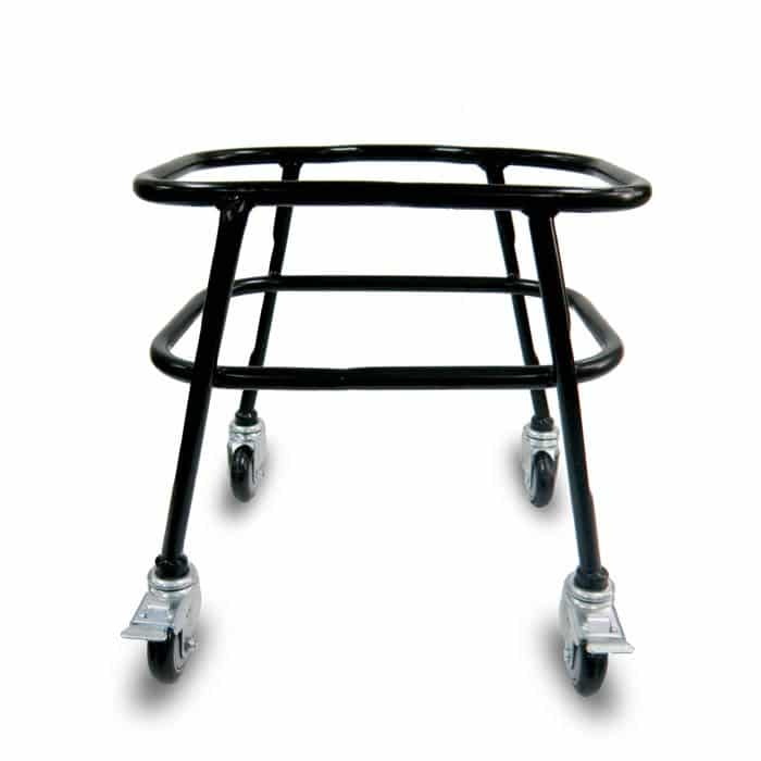 Rolling rack with brakes for 40 liter hand baskets