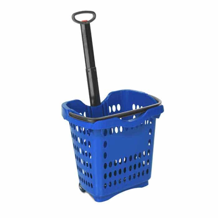 40 liter rolling shopping hand basket