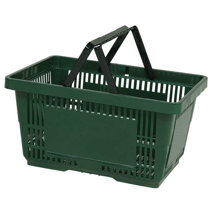 28 liter plastic hand basket with plastic handles