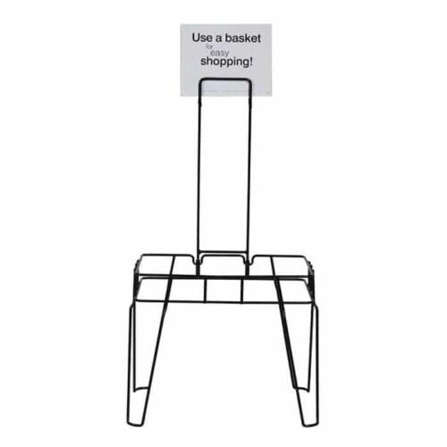 Rack & Sign for 28 liter hand basket