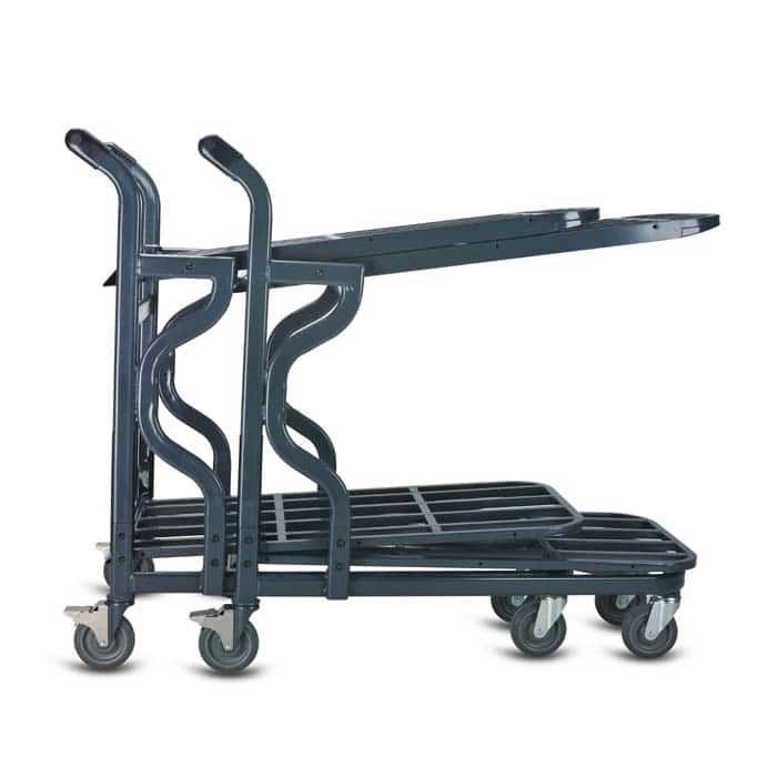 EZtote9600 HD nesting stocking material handling cart in dark grey