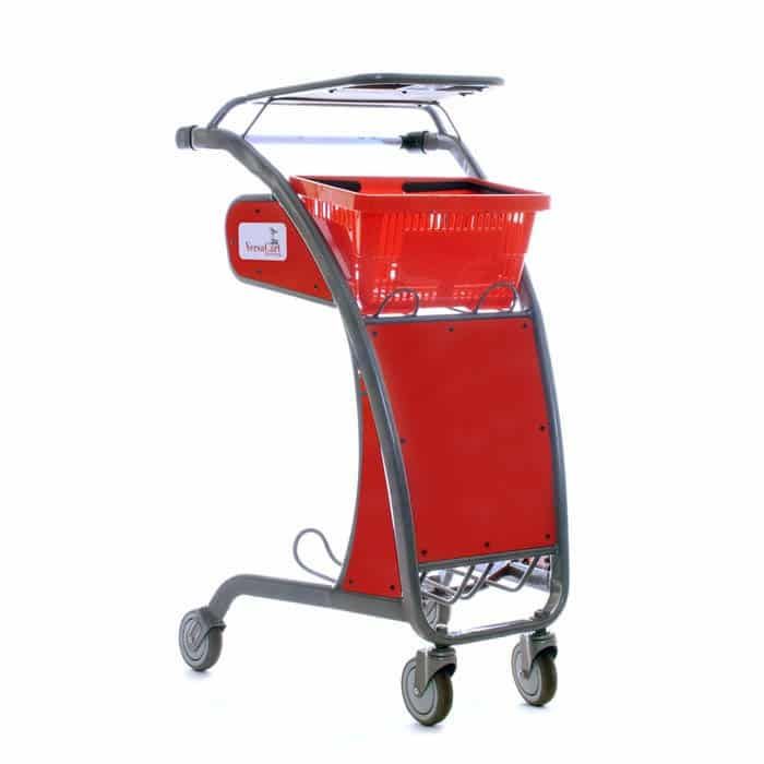 Two-tier mobile work station utility cart with writing surface and cup holder