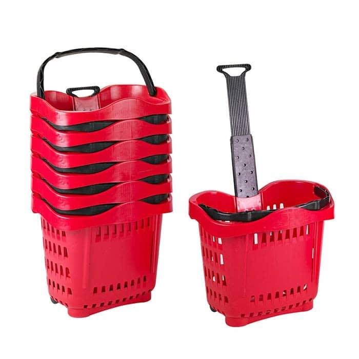 43 liter rolling shopping hand basket