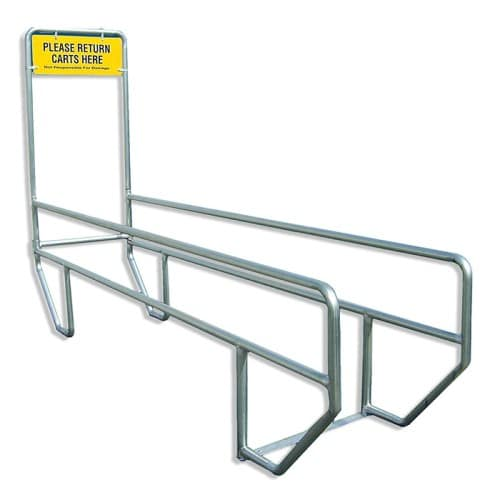 Single Cart Corral with Sign