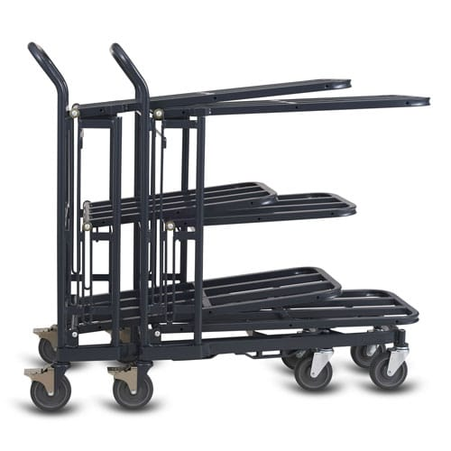 Retractable Nesting Stocking Cart Model 33R in dark grey
