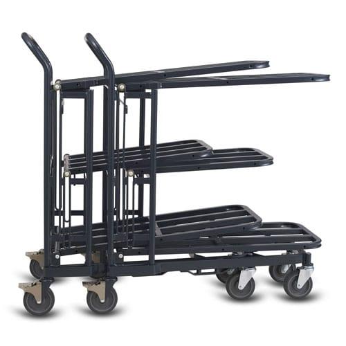 Retractable Nesting Stocking Cart Model 33R in dark grey