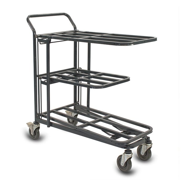 Retractable Nesting Utility Cart Model 33R in dark grey