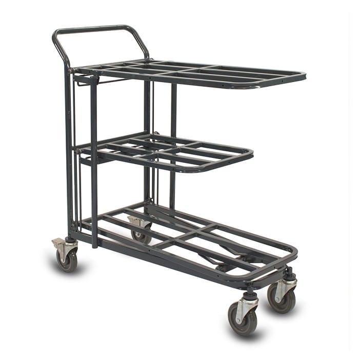 Retractable Nesting Utility Cart Model 33R in dark grey