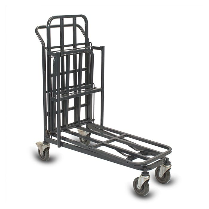 Retractable Nesting Utility Cart Model 33R in dark grey configuration 4