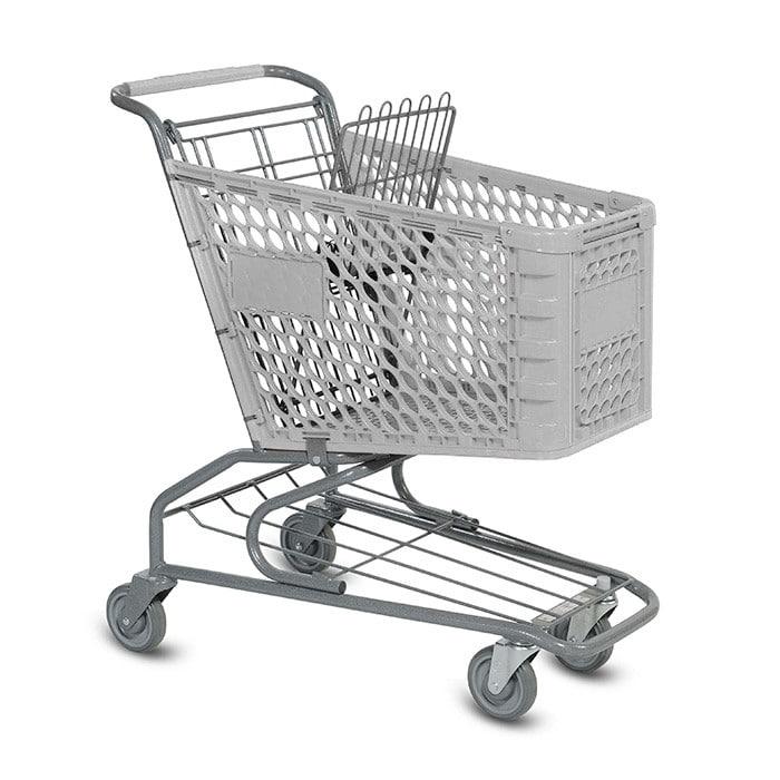 V Series 100 Liter Plastic Grocery Shopping Cart
