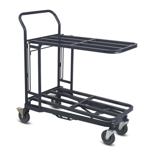 Retractable Nesting Stocking Cart Model 32R in dark grey configuration 1
