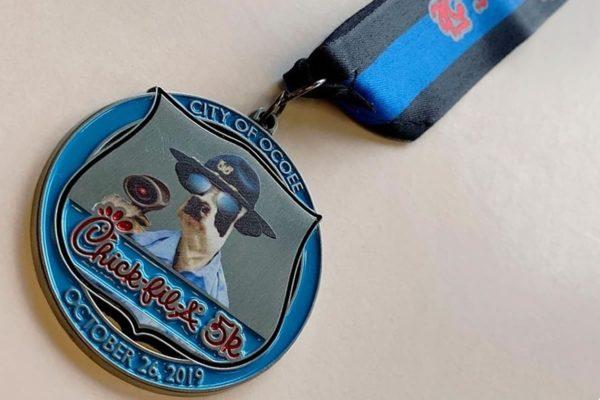 5k marathon medal design