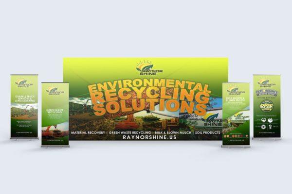 Mulch company tradeshow banner design