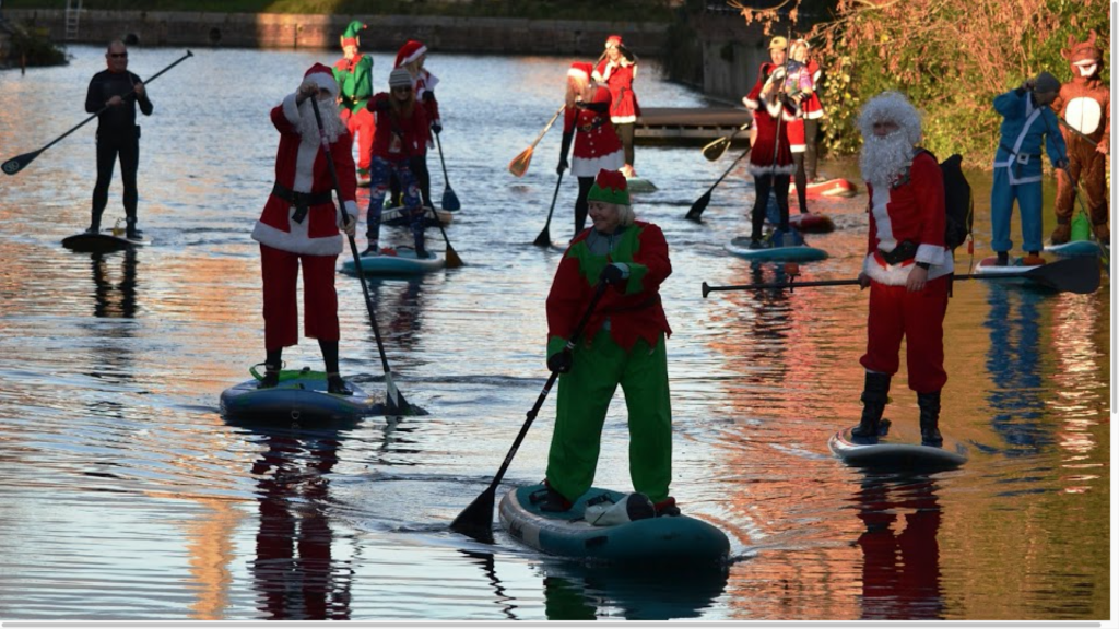 Chichester Sup Club santa paddle