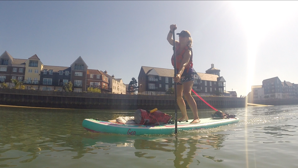 Stand up paddle on the River Arun