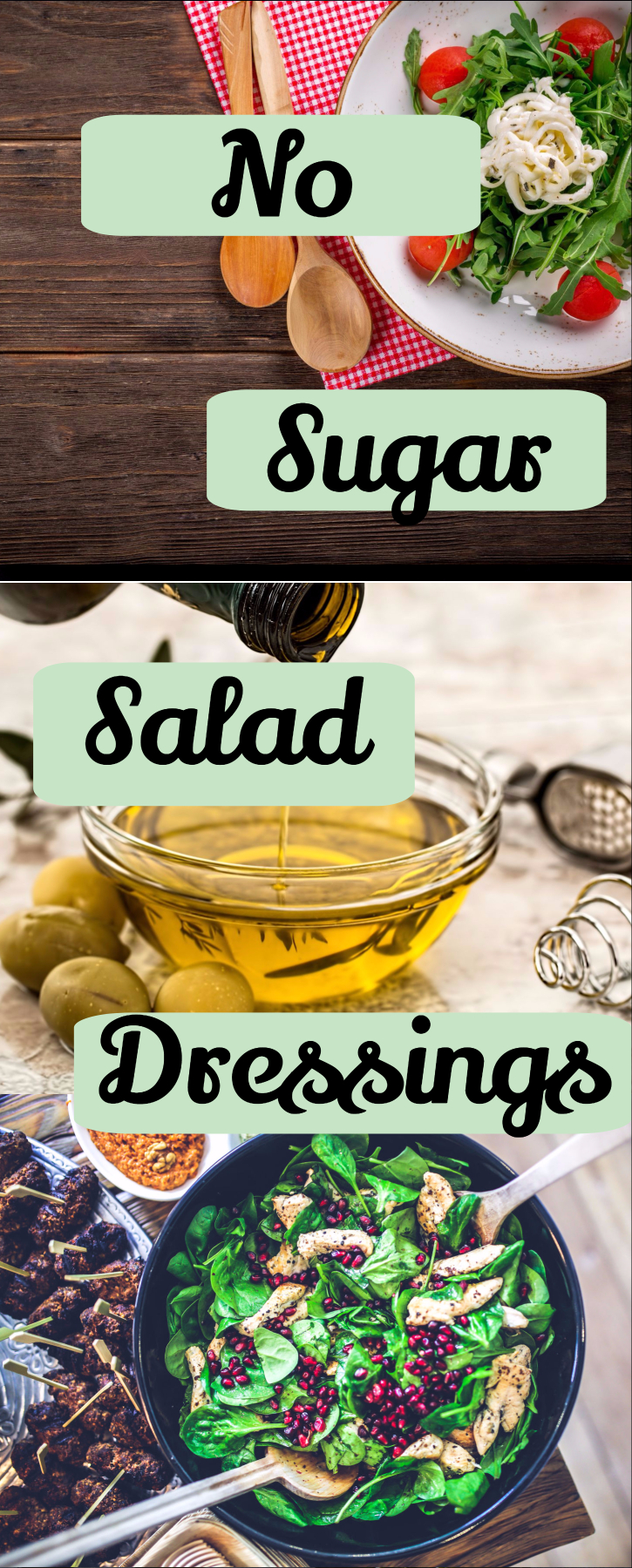 The best no-sugar salad dressing options. (sugar-free-low-glycemic-gluten-free-paleo-healthy- all natural)