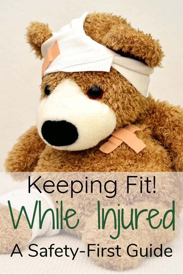 Ways to keep up your exercise routing when injured (exercise with injured arm/ exercise with injured legs/ exercise with bad back/ exercise with back strain/ exercise with twisted ankle/ exercise with wrist sprain/ working out/ exercise injury/ how long for injury to heal)
