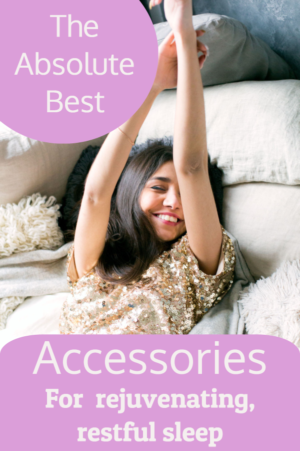 My favorite products and accessories to help me sleep (products for sleep/ ways to get better quality sleep/ sleep masks/ white noise machine/ weighted blanket/ lavender essential oil/ ear plugs/ improve sleep/ accessories for sleep/ products for insomnia/ help with sleep/ help yourself fall asleep/ stay asleep/ fall asleep faster)