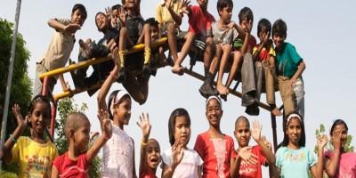 ghar kids on playground