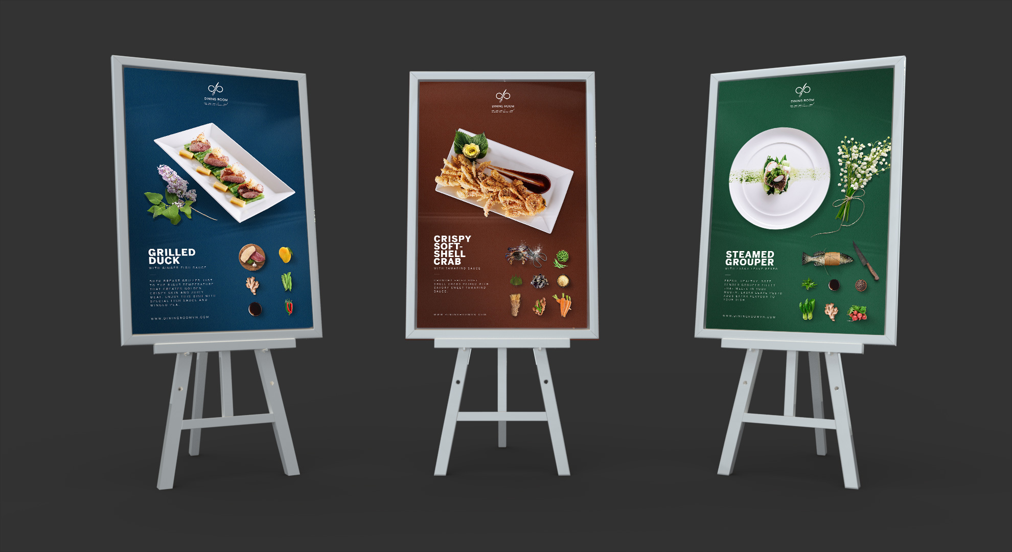 Dining Room outdoor signages