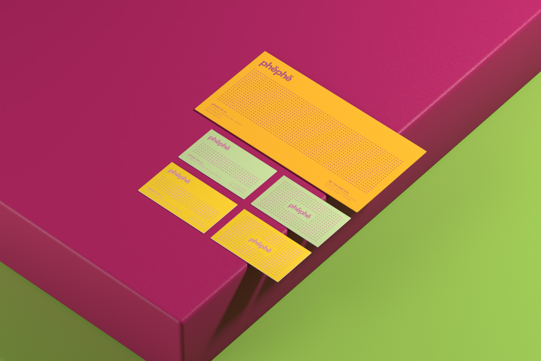 stationary design, phephe, xolve branding, modern design, namecard design, thiet ke thuong hieu