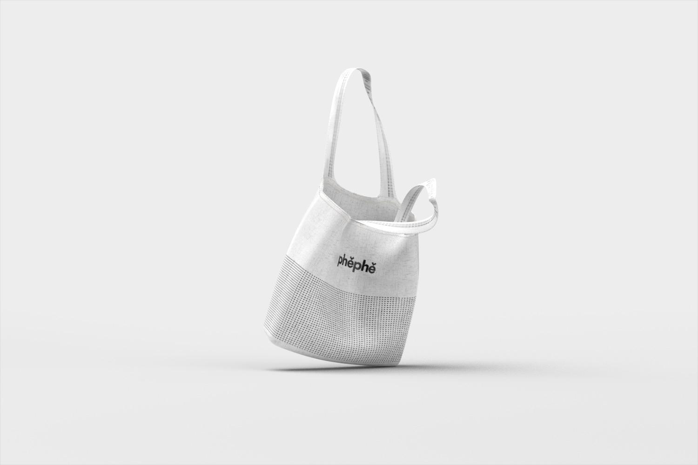 label design, packaging design, branding, product design, juice bottle, phephe, xolve branding, modern design, mockup, tote bag