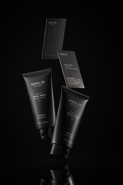 merlin for men, concept design, facial wash, product packaging, xolve branding, branding agency vietnam, cosmetic for men, brand studio
