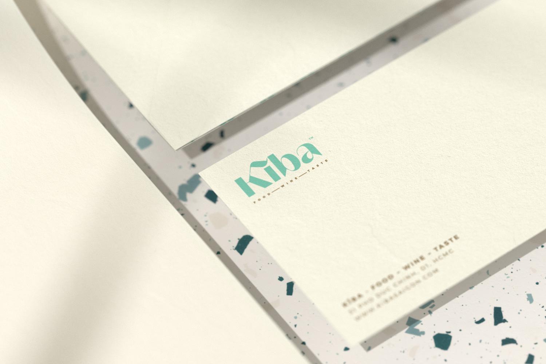 Kiba Saigon letterhead and Dl envelope in closeup view