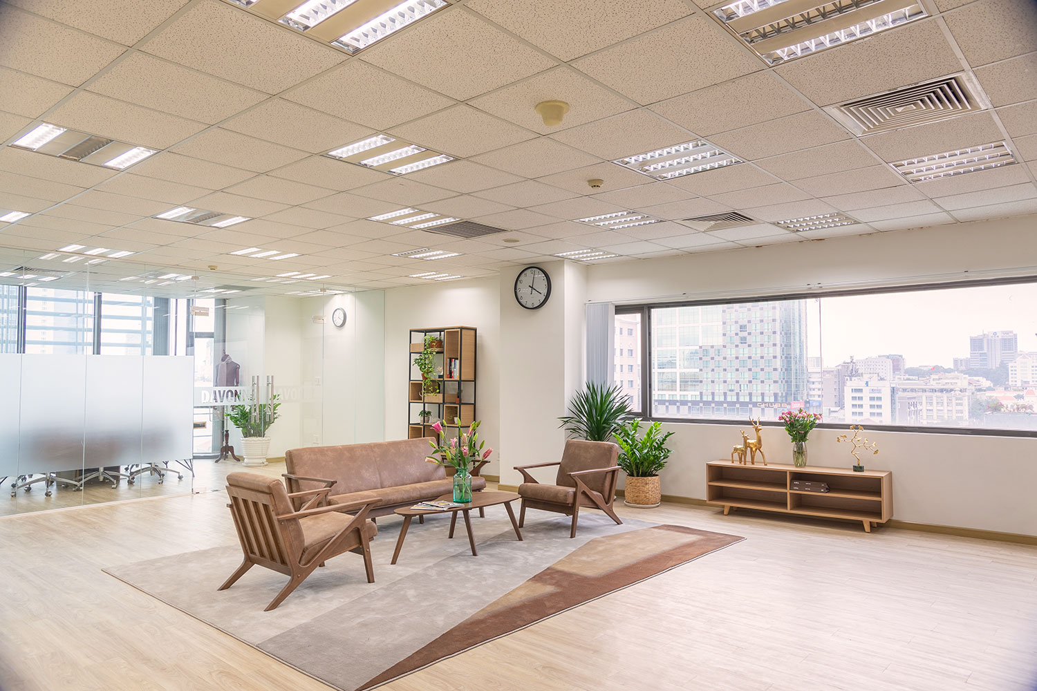 Office overlooking the central district one ho chi minh city