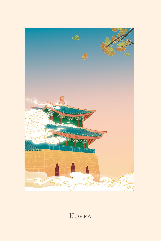 Illustration of Gyeongbokgung Palace