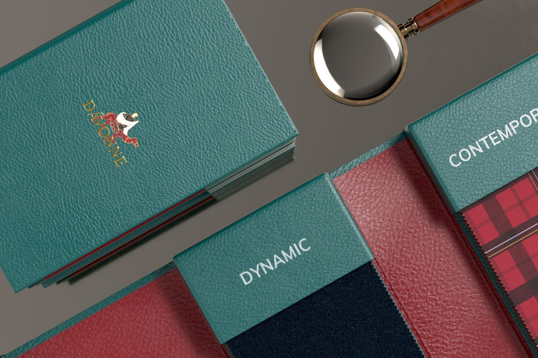 Textile sample book detail