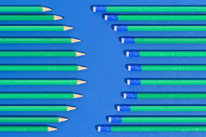 LIN pencils form semi cirle shape