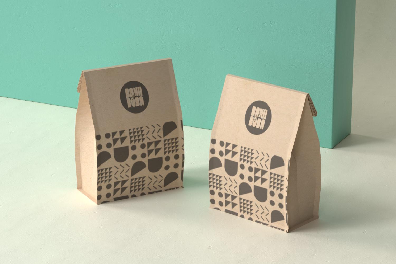 Banh and Boba paper bag