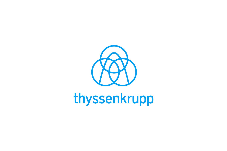 thyssenkrupp logo on light background