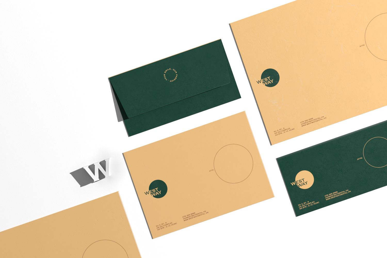 Westway envelop set on white background