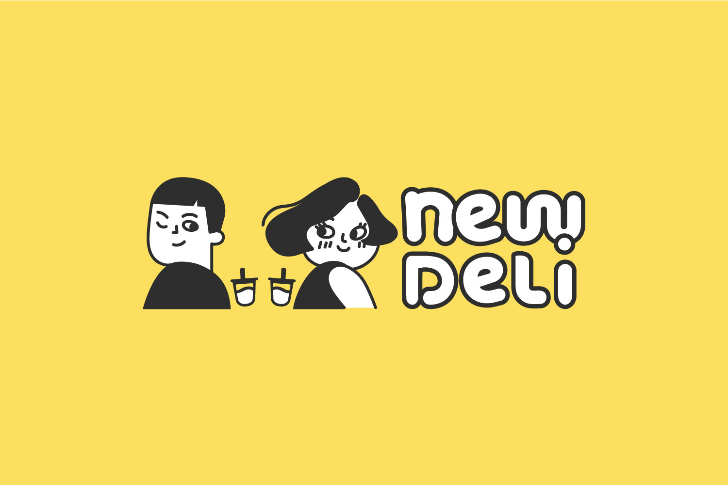 New Deli full logo on yellow background