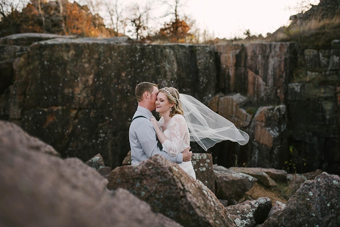 st. cloud, mn anniversary bridal photoshoot quarries