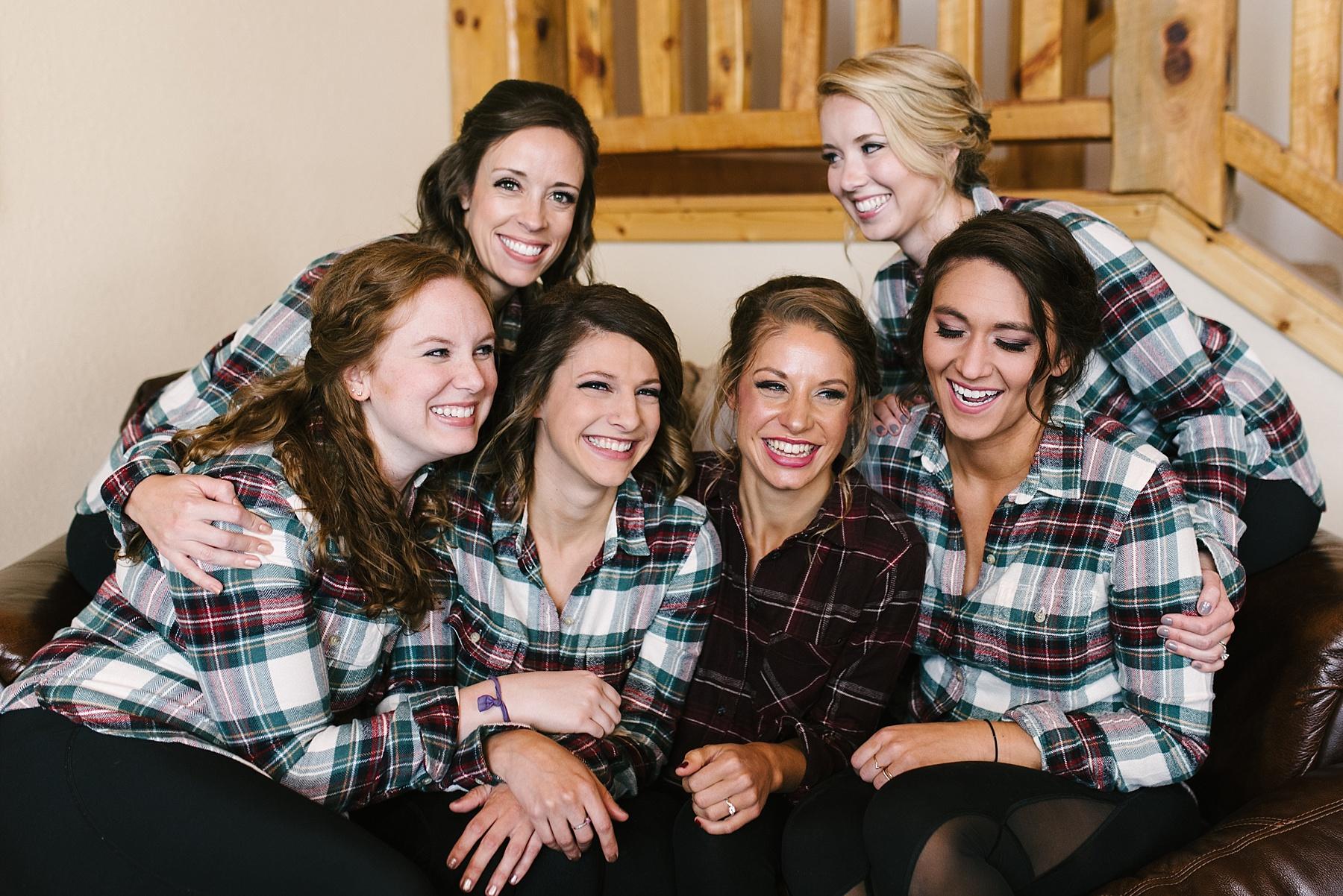 bridesmaids flannel shirts