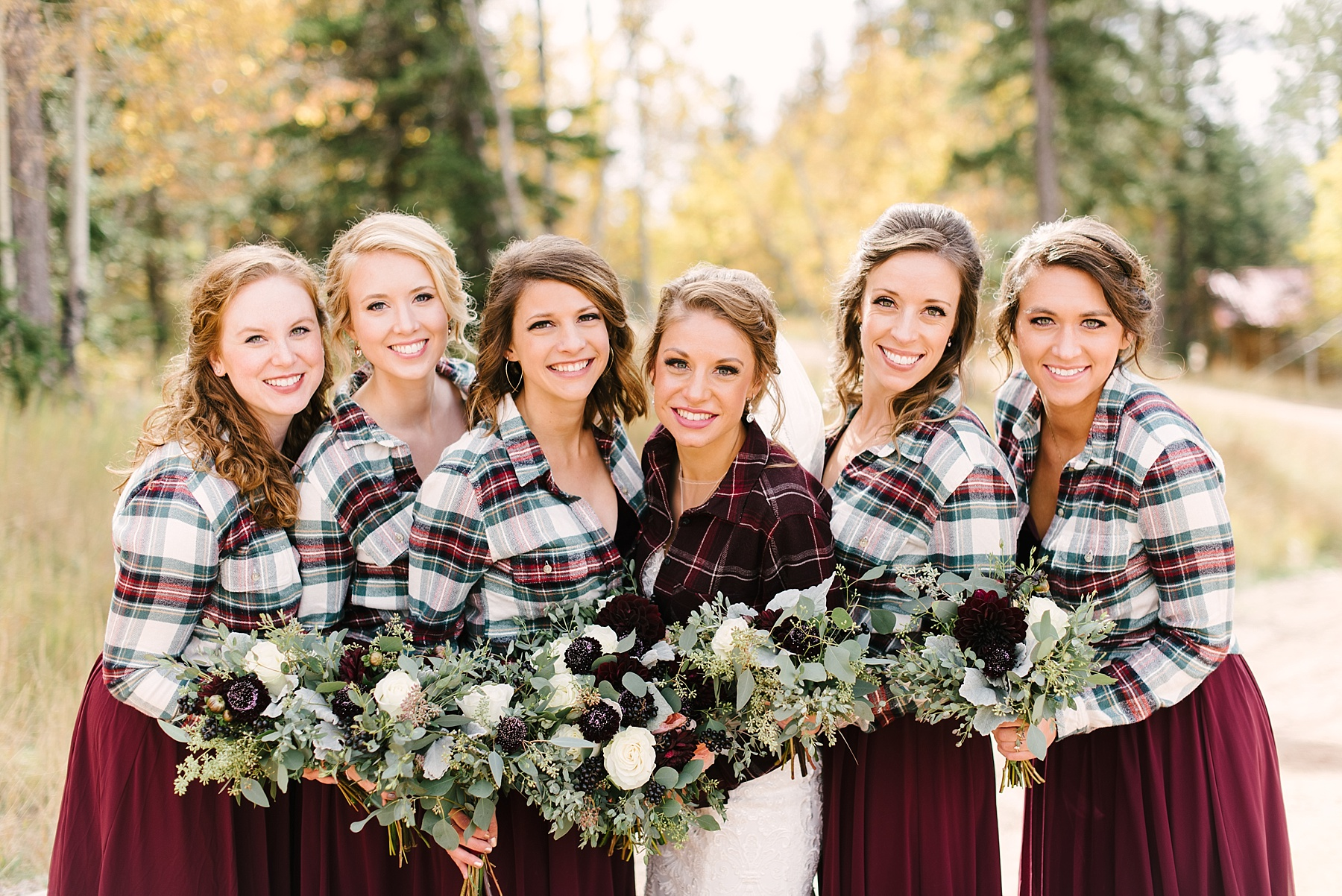 flannels for bridesmaids fall wedding