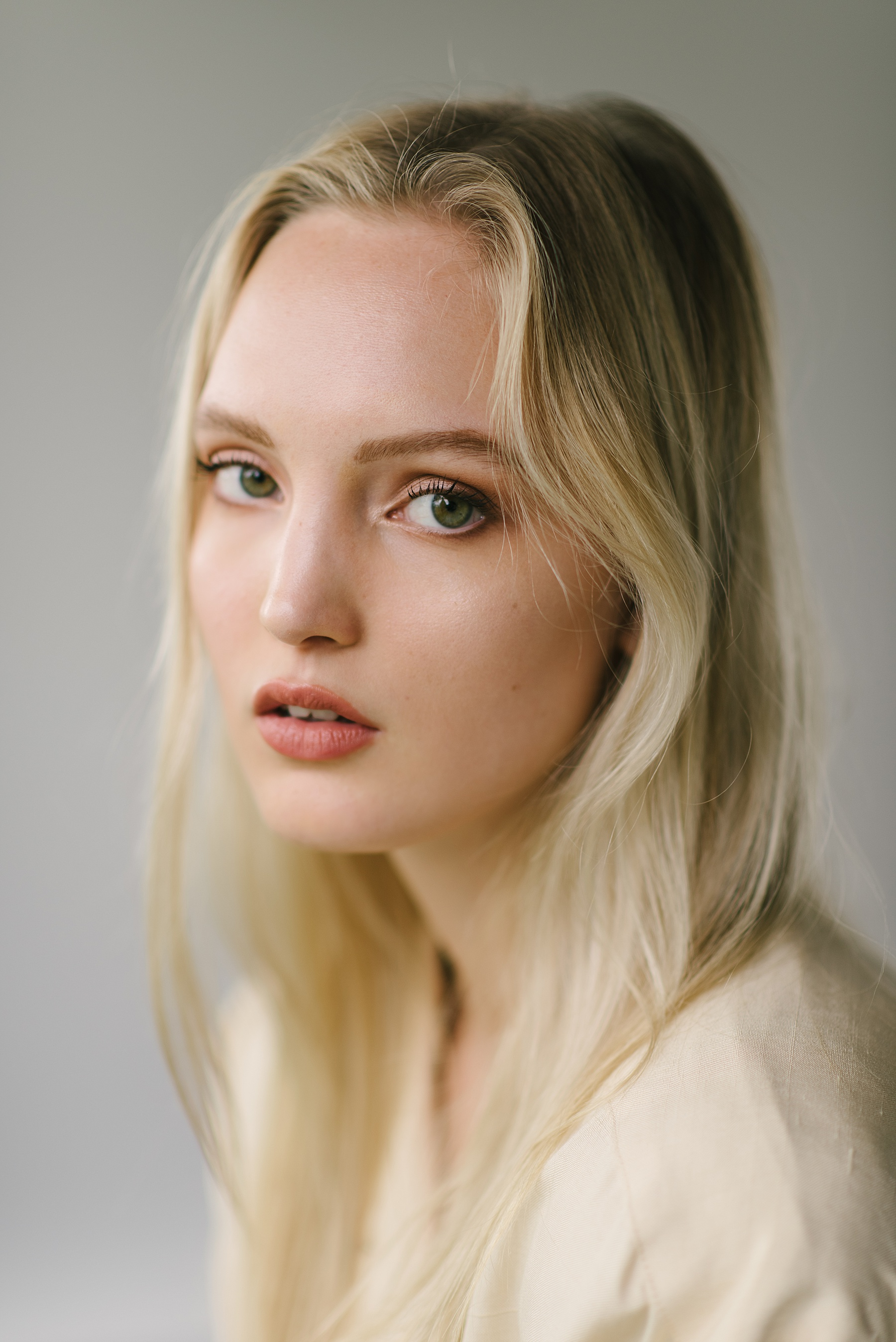 blonde fashion model