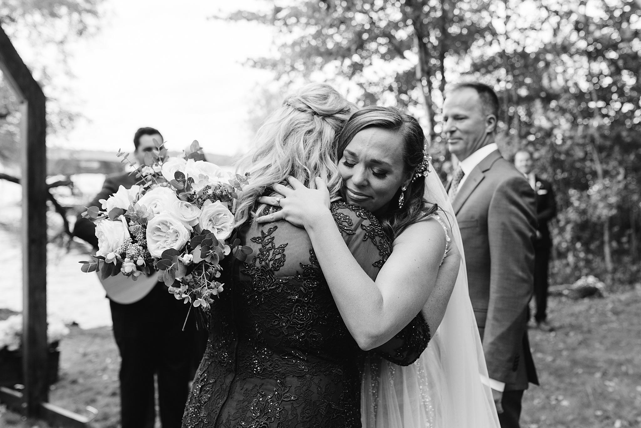 backyard cabin wedding wisconsin