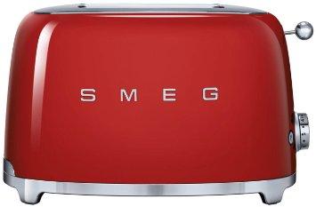 Red Smeg 2 Slice Toaster