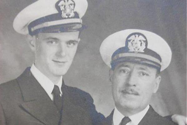Adrian H. Jennings Jr & Sr. together during WWII