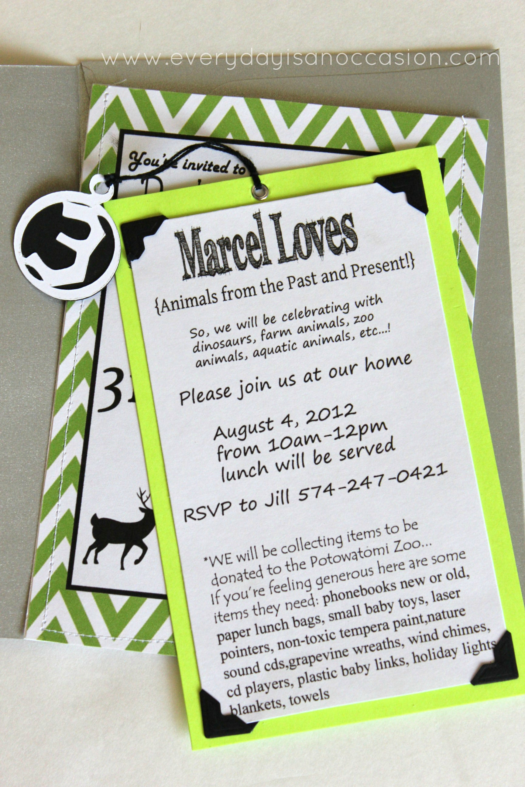 Party Like an Animal invitation by Every Day is an Occasion