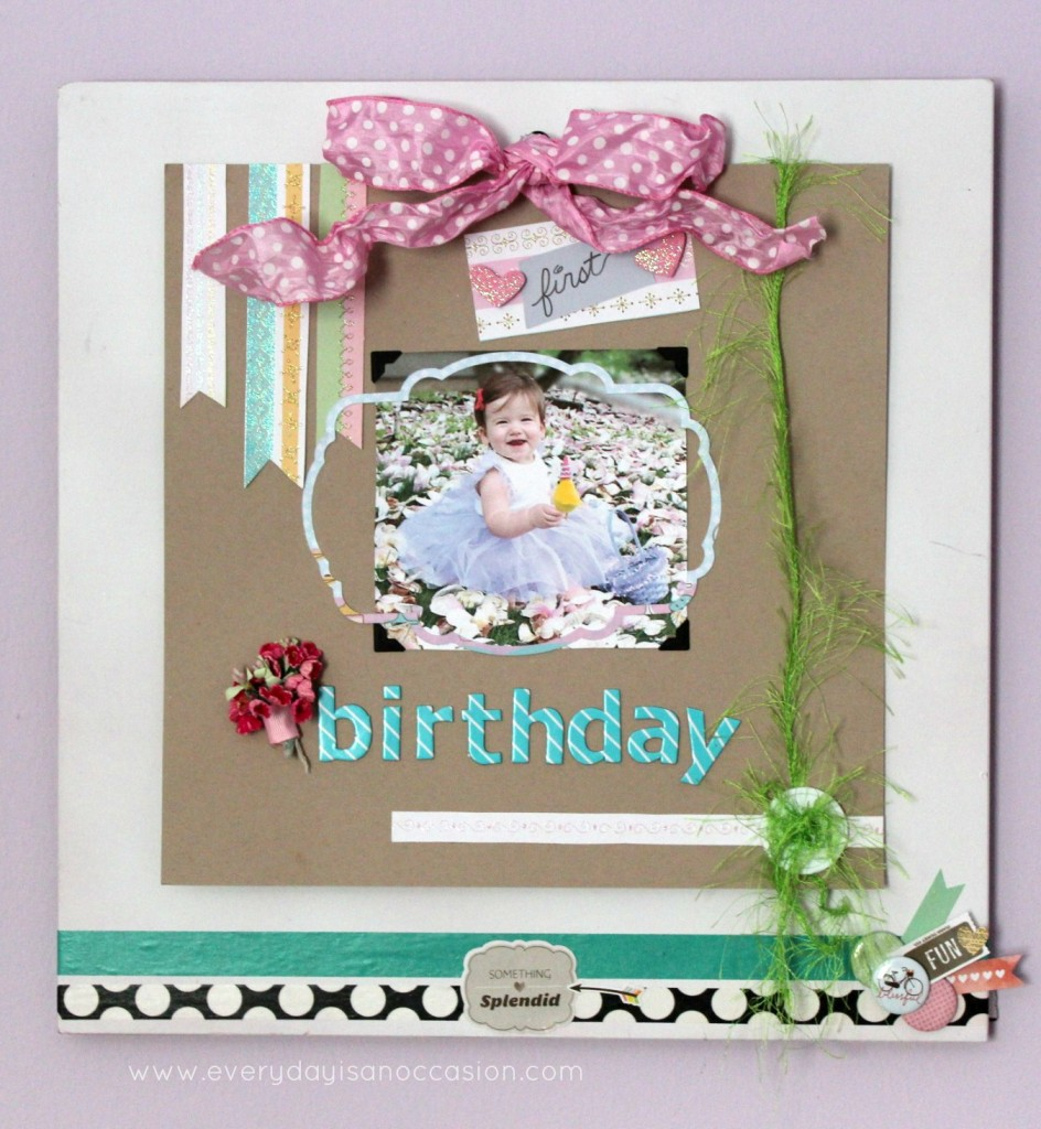 Scrapbook Page Display by Every Day is an Occasion